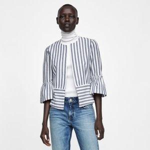 Zara striped jacket